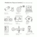 Ilustração do vetor das tendências futuras da medicina Foto de Stock