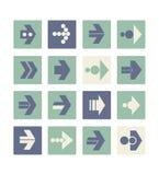 Ilustração do vetor de ícones lisos da seta EPS10 Imagem de Stock Royalty Free