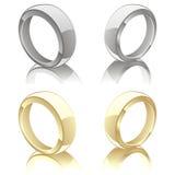 Ilustração do vetor de anéis de casamento Fotografia de Stock Royalty Free