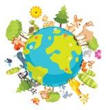 Ilustração do vetor de animais dos desenhos animados Imagem de Stock Royalty Free