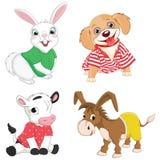 Ilustração do vetor de animais dos desenhos animados Imagens de Stock