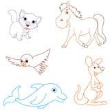 Ilustração do vetor de animais dos desenhos animados Imagem de Stock
