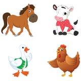 Ilustração do vetor de animais dos desenhos animados Fotos de Stock Royalty Free