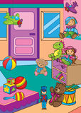 Ilustração do vetor de brinquedos diferentes na loja Ilustração Royalty Free
