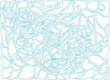 Ilustração do vetor de círculos da garatuja Teste padrão desenhado à mão Foto de Stock