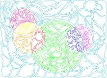 Ilustração do vetor de círculos da garatuja Teste padrão desenhado à mão Imagem de Stock