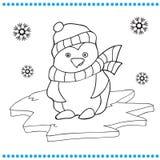 Ilustração do vetor de desenhos animados do pinguim Imagem de Stock Royalty Free