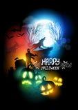 Ilustração do vetor de Dia das Bruxas do horror Foto de Stock Royalty Free