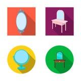 Ilustração do vetor de e ícone da aparência Coleção de e ícone do vetor da reflexão para o estoque ilustração royalty free
