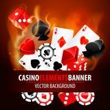 Ilustração do vetor de elementos do casino Imagem de Stock Royalty Free