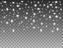 Ilustração do vetor de estrelas de queda do branco dos objetos ilustração do vetor