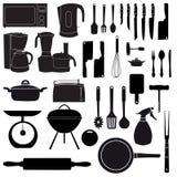 Ilustração do vetor de ferramentas da cozinha Foto de Stock Royalty Free
