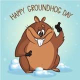 Ilustração do vetor de Groundhog Pode ser usado no design web, impresso no papel da tela, como um fundo, ou como um elemento em u Fotos de Stock Royalty Free