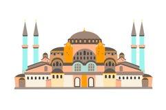 Ilustração do vetor de Hagia Sophia Mosque, isolada no fundo branco ilustração do vetor