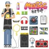 Ilustração do vetor de hiphop da batida ilustração stock