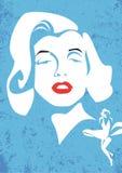 Ilustração do vetor de Marylin Monroe Foto de Stock Royalty Free