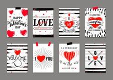 Ilustração do vetor de moldes do cartão do dia de Valentim ilustração do vetor