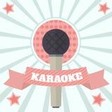Ilustração do vetor de Musuc do karaoke da cor Imagem de Stock