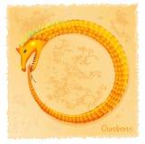 Ilustração do vetor de Ouroboros Fotografia de Stock Royalty Free