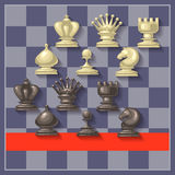 Ilustração do vetor de partes de xadrez Imagem de Stock Royalty Free