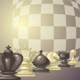 Ilustração do vetor de partes de xadrez Fotografia de Stock Royalty Free