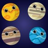 Ilustração do vetor de planetas abstratos ilustração royalty free