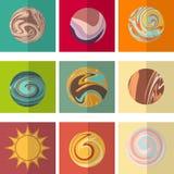 Ilustração do vetor de planetas abstratos ilustração do vetor