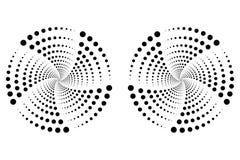 Ilustração do vetor de pontos pretos radiais Fotografia de Stock