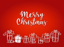 Ilustração do vetor de presentes do Natal Fotos de Stock