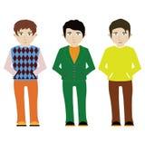 Ilustração do vetor de três homens Imagens de Stock Royalty Free