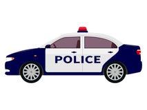 Ilustração do vetor de um carro de polícia dos desenhos animados Fotografia de Stock
