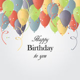 Ilustração do vetor de um cartão do feliz aniversario ilustração do vetor
