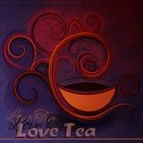 Ilustração do vetor de um copo do chá Foto de Stock Royalty Free