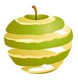 Ilustração do vetor de um cutaway da maçã imagens de stock