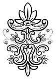 Ilustração do vetor de um elemento floral abstrato Foto de Stock