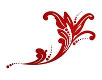 Ilustração do vetor de um elemento floral colorido Fotografia de Stock