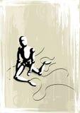 Ilustração do vetor de um fantoche dramático só ilustração royalty free