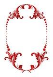 Ilustração do vetor de um frame floral abstrato Fotografia de Stock Royalty Free