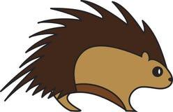 Ilustração do vetor de um ouriço ilustração stock