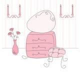Ilustração do vetor de um quarto da princesa Imagens de Stock