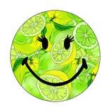 Ilustração do vetor de um smiley com cais ilustração stock