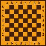 Ilustração do vetor de um tabuleiro de xadrez Pilhas amarelas e marrons ilustração royalty free