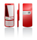 Ilustração do vetor de um telemóvel vermelho Imagem de Stock