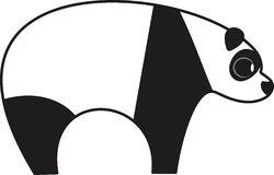Ilustração do vetor de um urso de panda Fotos de Stock