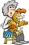 Ilustração do vetor de um ventriloquist de A Fotografia de Stock Royalty Free