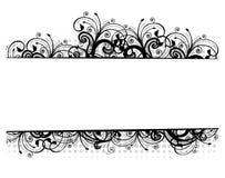 Ilustração do vetor de uma beira floral Fotografia de Stock Royalty Free