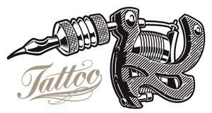 Ilustra??o do vetor de uma m?quina da tatuagem um fundo branco ilustração do vetor