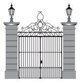 Ilustração do vetor de uma porta do ferro forjado ilustração royalty free
