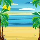 Ilustração do vetor de uma praia ilustração royalty free