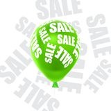Ilustração do vetor de uma venda dos balões Fotos de Stock Royalty Free